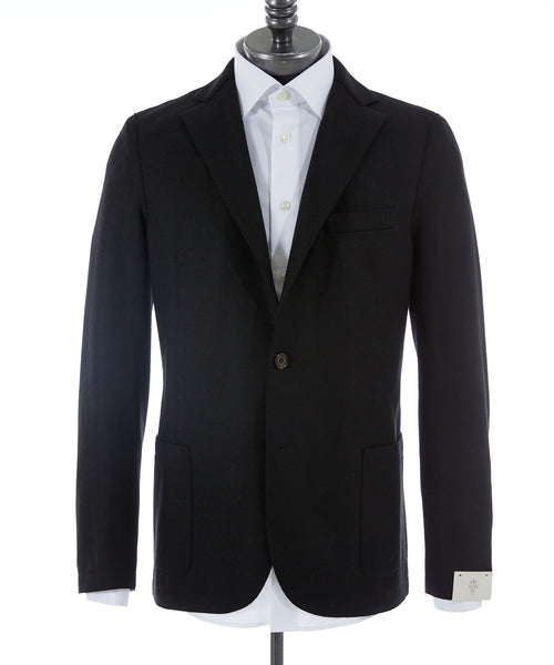 RAW EDGE SOFT SPORT JACKET / BLACK