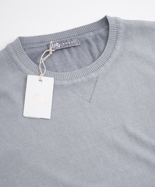 ICED GARMENT DYED SHORT SLEEVE CREW NECK / GREY