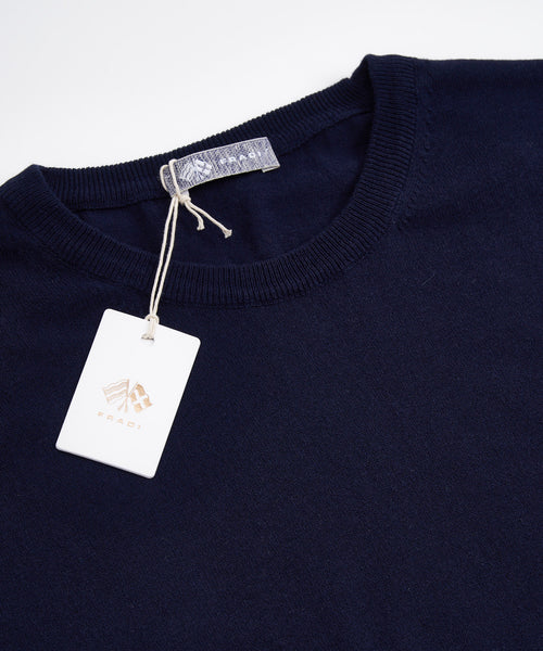 LONG SLEEVE SOLID KNIT CREWNECK / NAVY