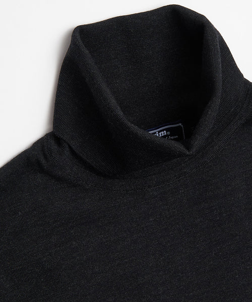 SUPER 140'S EXTRAFINE MERINO WOOL 30G TURTLENECK / CHARCOAL