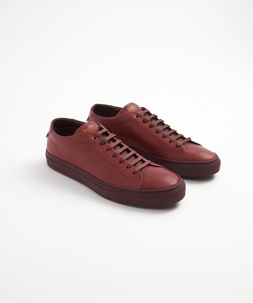 EDGE SNEAKER IN LEATHER / BURGUNDY