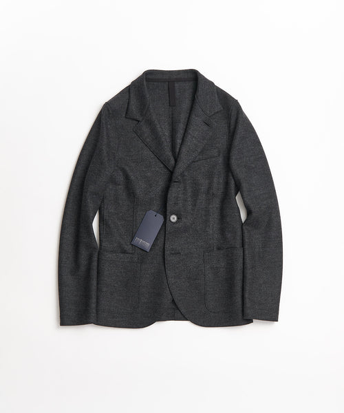 STANDING COLLAR WOOL BLAZER / GREY