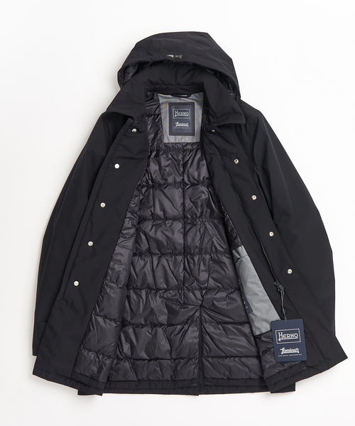 LAMINAR DOWN MAC WINTER COAT / BLACK