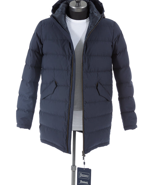 LAMINAR HONEYCOMB WINTER PARKA / BLUE