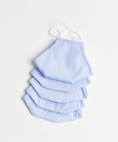 5 PCS CHECK  REUSABLE NON-MEDICAL MASK / BLUE