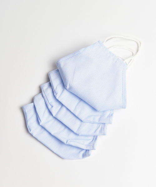 5 PCS STRIPE REUSABLE NON-MEDICAL MASK / BLUE