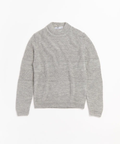 WORKER'S TUNIC SWEATER / SILVER