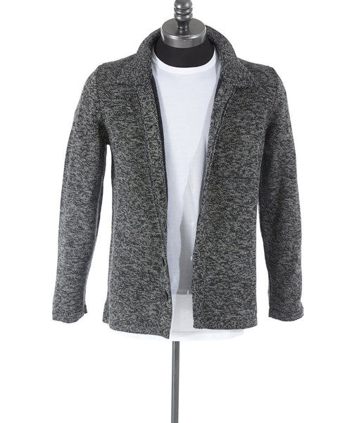 Inis Meáin Grey Alpaca Shirt Jacket Sweater - Sweaters - Inis Meáin - LALONDE's