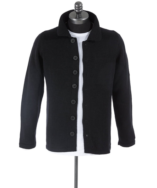 Inis Meáin Midnight Alpaca Shirt Jacket Sweater