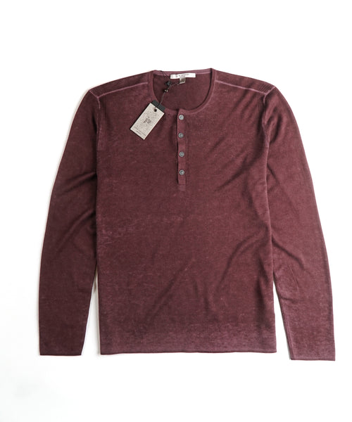 ARTISAN HENLEY SWEATER / PURPLE
