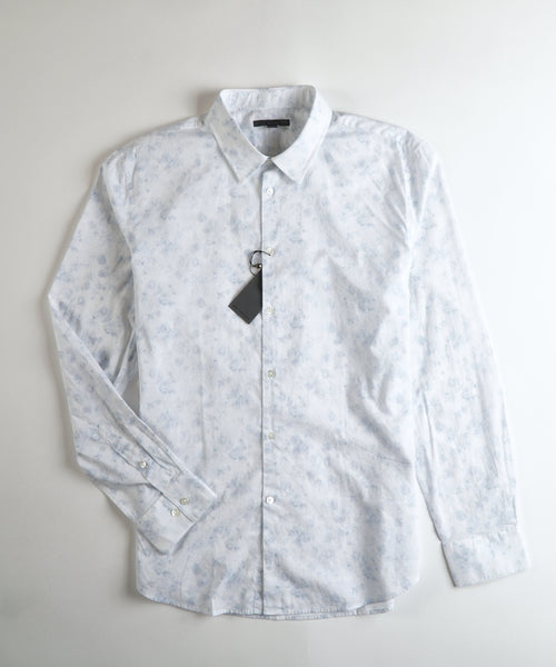 TEXTURED FLORAL SHIRT / BLUE