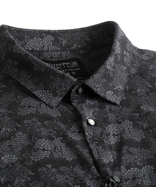 LED ZEPPELIN FLORAL SHIRT / BLACK