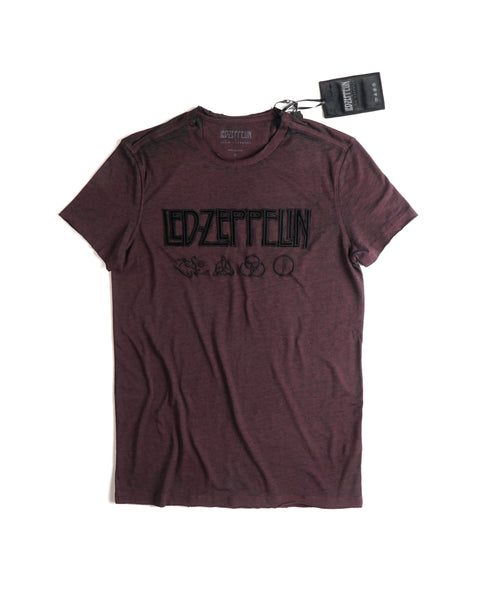 LED ZEPPELIN SYMBOLS TEE / BORDEAUX