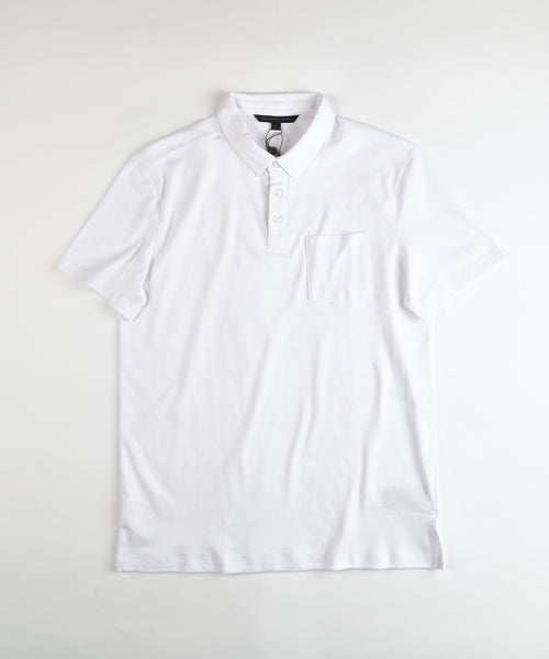 BURLINGTON' INTERLOCK PIMA POLO / WHITE