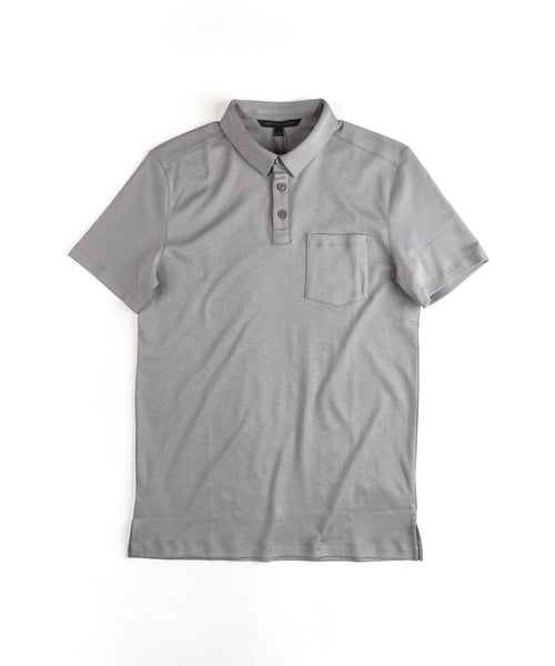 'BURLINGTON' INTERLOCK PIMA POLO / GREY