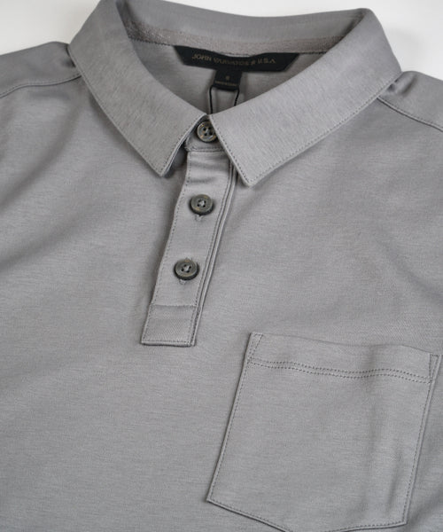 BURLINGTON' INTERLOCK PIMA POLO / GREY