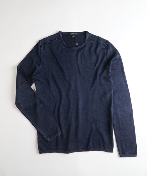 ACID WASH CREW NECK PULLOVER / MIDNIGHT