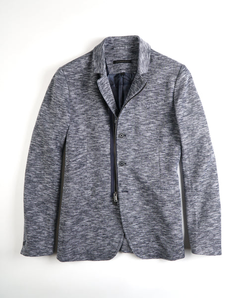 'DARYL' DOUBLE KNIT JACKET / BLUE