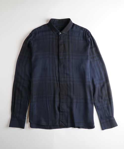 RODNEY' VISCOSE SHIRT / MIDNIGHT