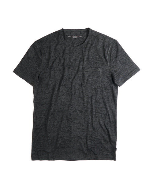 BURNOUT CREW T-SHIRT / CHARCOAL