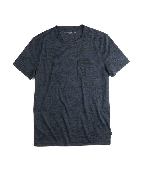 BURNOUT CREW T-SHIRT / BLUE