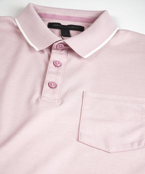 CAMBRIDGE' PIQUE POLO / PINK