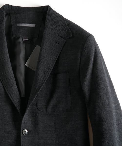 NOTCH LAPEL JACKET / BLACK
