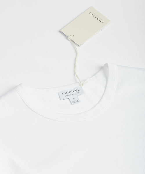 LONG STAPLE CREW NECK T-SHIRT / WHITE