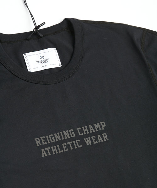 Reigning Champ 1202-BLACK Training Logo Copper Jersey T-Shirt