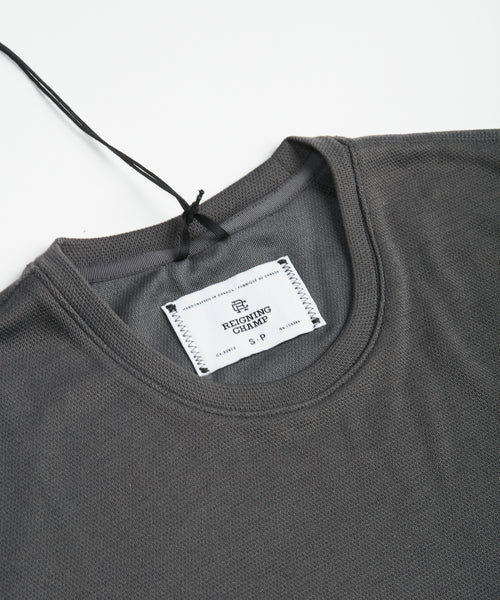 Reigning Champ Power Dry Pique T SHirt 1126-CHARCOAL