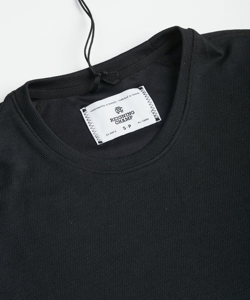 Reigning Champ Pique Power Dry T-Shirt RC-1126-BLACK