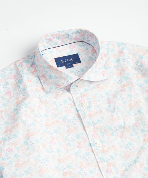 SOFT FLOURISHING SLIM SHIRT / PINK
