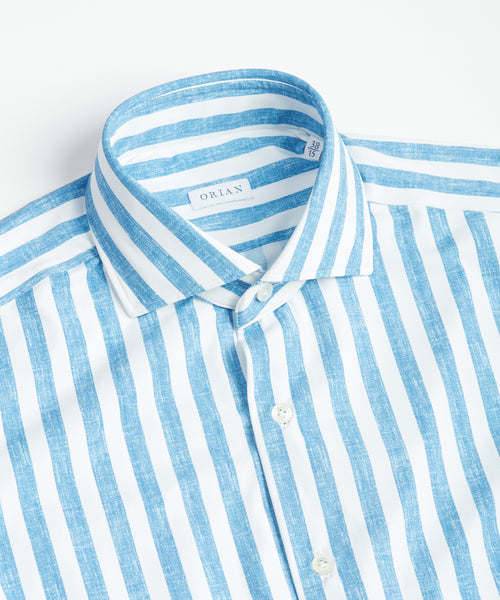 ECO-TECH STRIPED SHIRT / BLUE