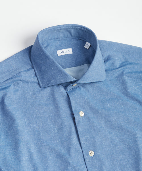 ECO-TECH SOLID SHIRT / BLUE