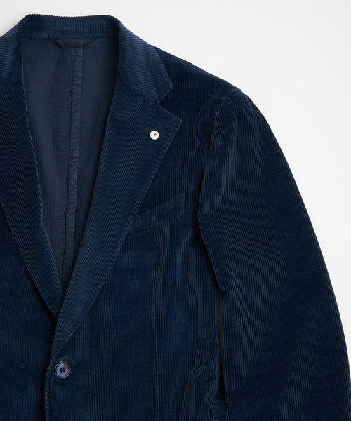 L.B.M. 1911 Navy Garment Dyed Unlined Corduroy Sport Jacket