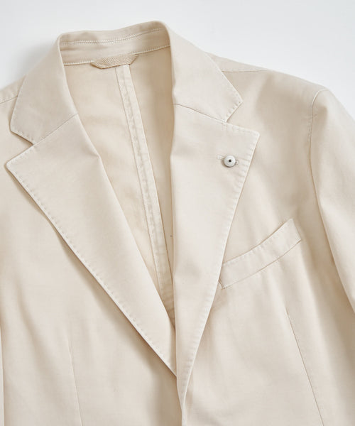 COTTON STRETCH TWILL BLAZER / IVORY