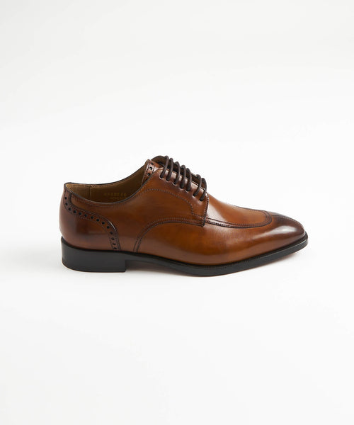 SPLIT TOE SHOE / COGNAC