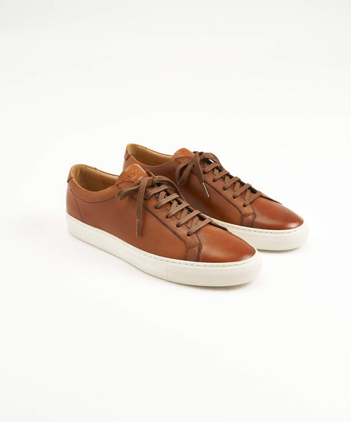 SPRINT' LEATHER SNEAKERS / CHESTNUT