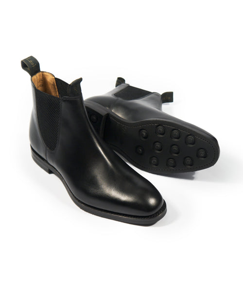 CHATSWORTH CALF LEATHER CHELSEA BOOT / BLACK