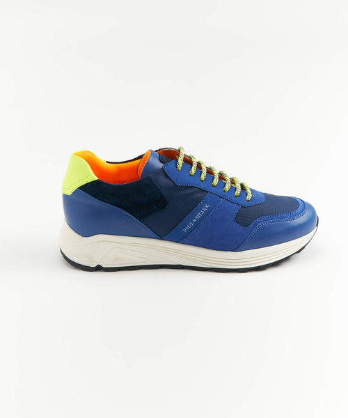 HI-VIS SUEDE AND LEATHER TRAINERS / MULTI