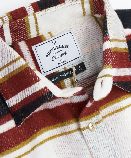 PORTUGUESE FLANNEL BRICK HORIZONTAL STRIPE SHIRT