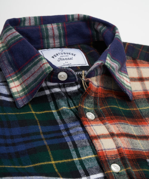PORTUGUESE FLANNEL PATCHWORK FLANNEL SHIRT