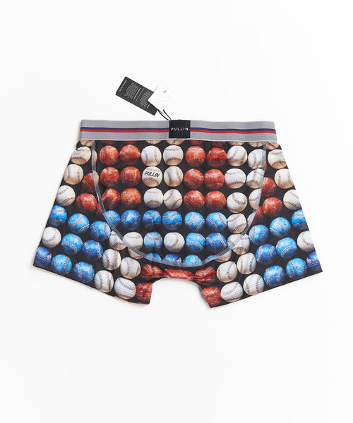 MASTER' RED WHITE & BLUE BALLS BOXER BRIEFS / MULTI
