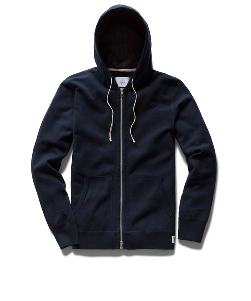 Reigning Champ MIDWEIGHT NAVY TERRY FULL ZIP HOODIE RC-3205-NAVY
