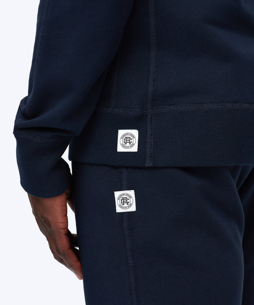 Reigning Champ MIDWEIGHT NAVY TERRY COTTON FULL ZIP HOODIE