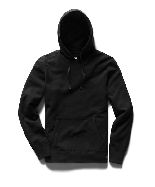 Reigning Champ LIGHTWEIGHT BLACK TERRY PULLOVER HOODIE RC-3529-BLACK