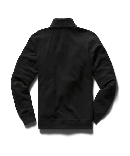 Reigning Champ RC-3589-BLACK Merino Terry Zip Pullover