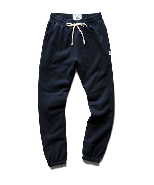 Reigning Champ MIDWEIGHT NAVY TERRY SLIM SWEATPANT