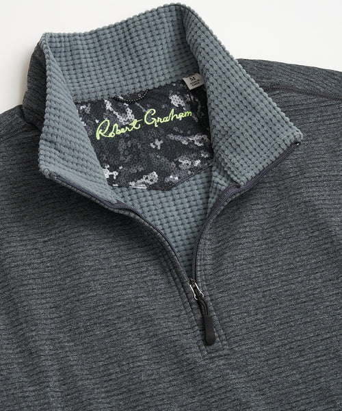 Robert Graham Gareth Grey Quarter Zip Sweater