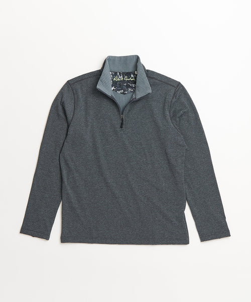 Robert Graham Gareth Grey Quarter Zip Sweater RF206055CF-002